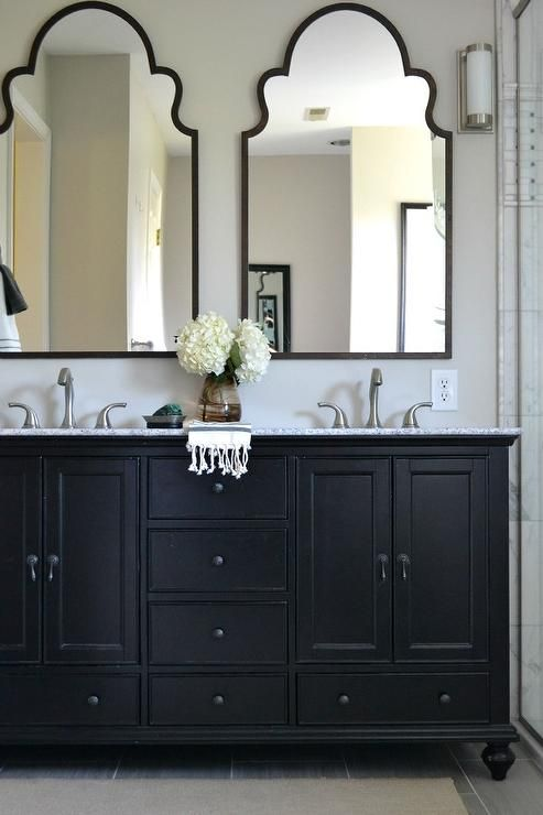 bathroommirrorvanitydoubletwopairhatchettdesign - Bathroom Mirrors Design