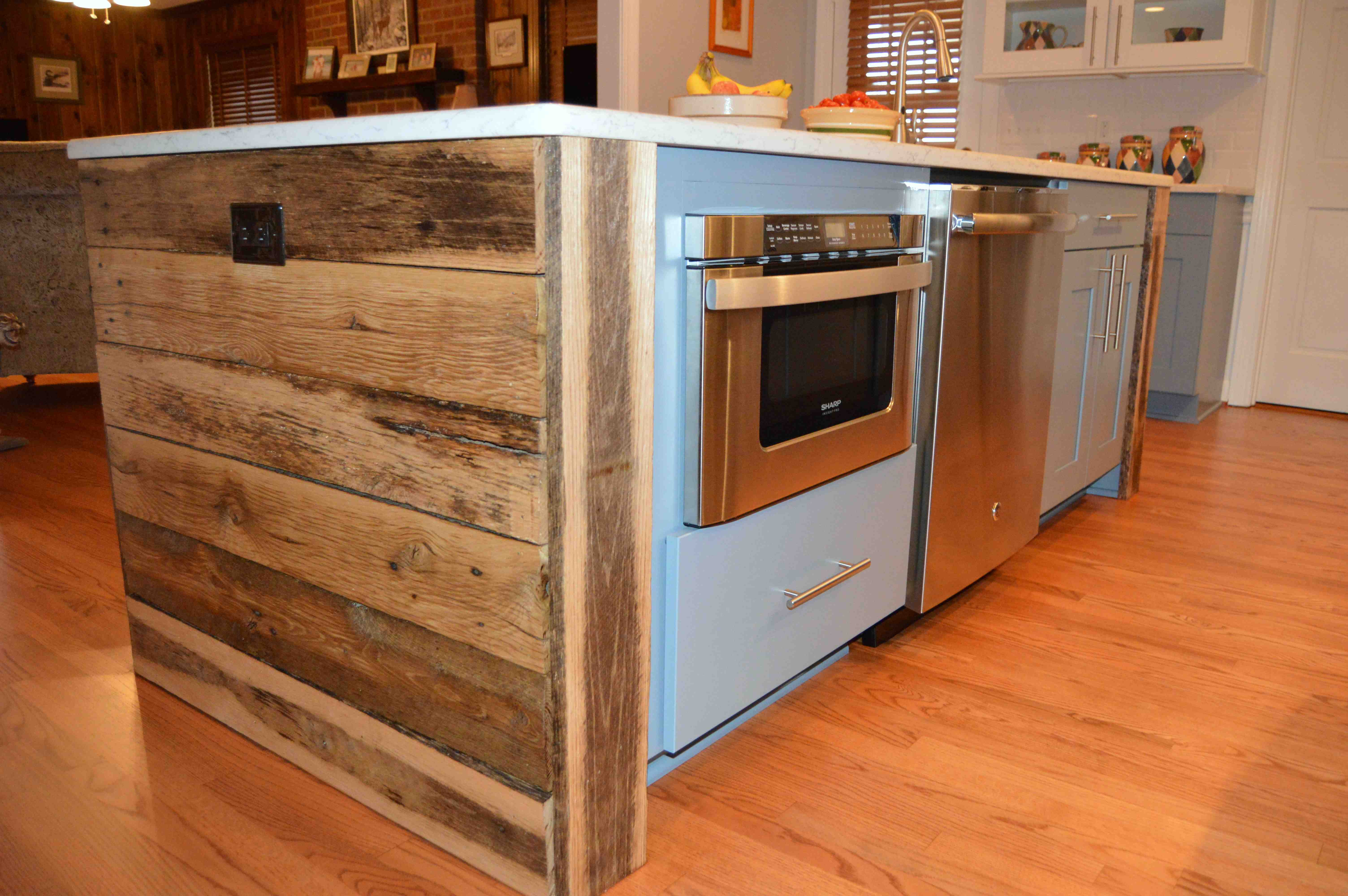 Kitchen Remodel Reclaimed Wood Design Hatchett Virginia Beach