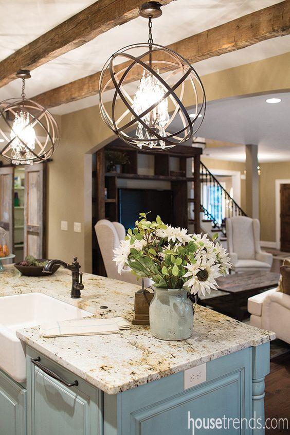 kitchen reclaimed wood ceiling beams hatchett design remodel - Reclaimed Wood Ceiling