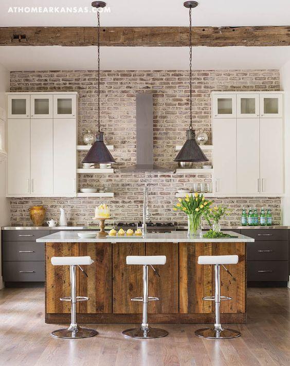 Superbe Kitchen Reclaimed Wood Island Hatchett Design Remodel