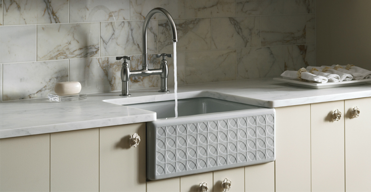 Image of fireclay kitchen sink