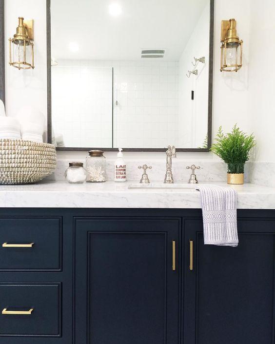 Bathroom Mirrors Virginia Beach mixing metals in your bathroom - hatchett design/remodel