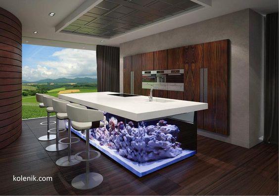 Pet_Friendly_Kitchen_Island_Fish_Tank pet friendly home designs hatchett design remodel,Cat Friendly Home Design