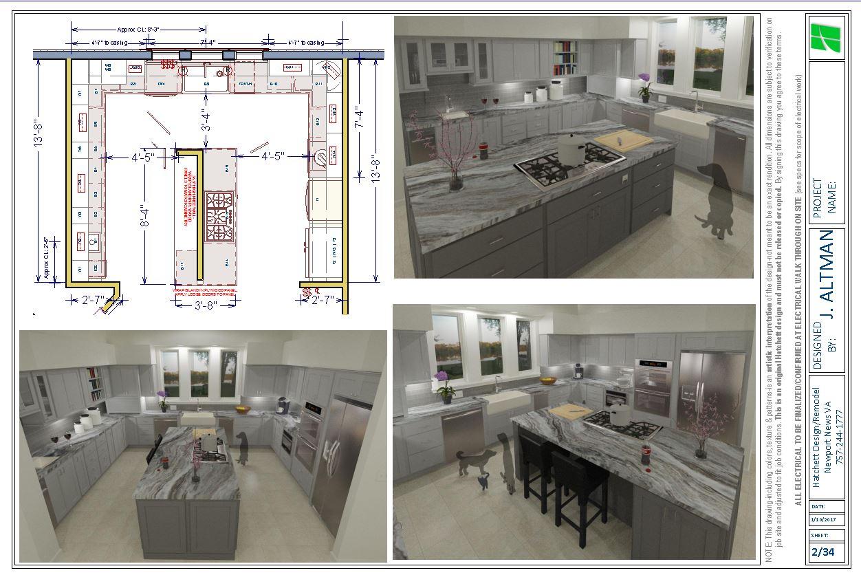 Rose Kitchen Remodel Design Hatchett Virginia Beach Plans