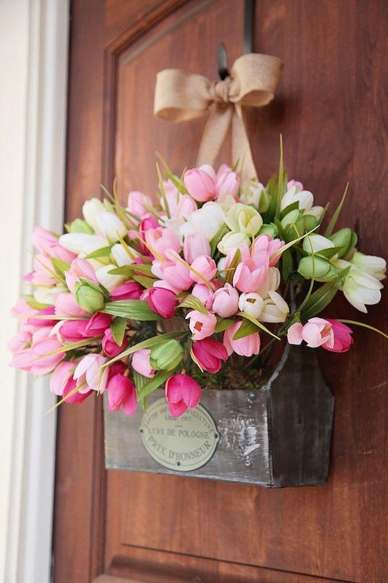 Home Flower Decoration Ideas Part - 24: Hatchett Design Remodel Virginia Beach Spring Decor Ideas Wreath
