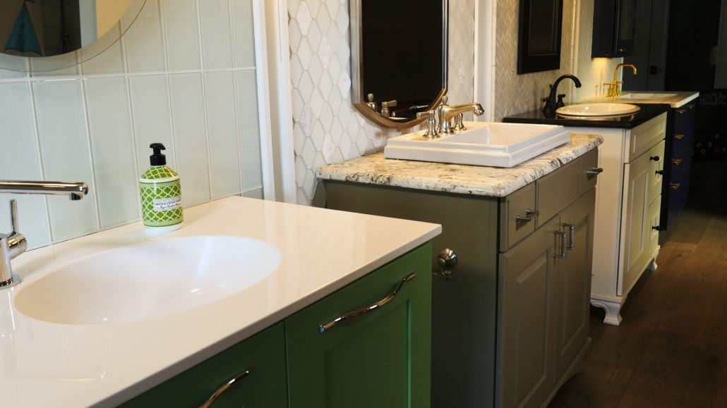 bathroom counters. With  Home Hatchett Design Remodel