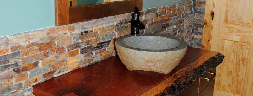 Rustic Bathroom Remodel for Cabin