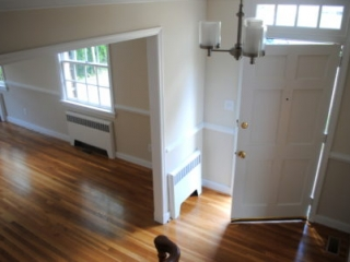 Home Remodel Light Colored Walls and White Trim