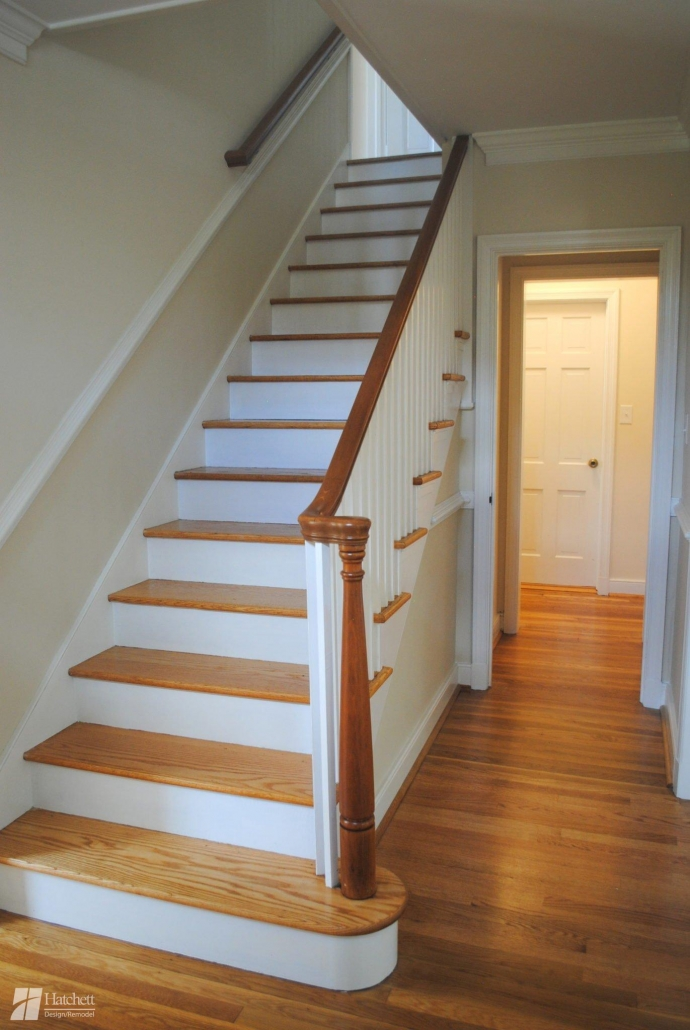 Historic Home Remodel Refinished Banister and Stairs