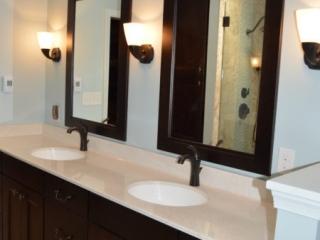 Bathroom Remodel Double Vanity Cherry with Espresso Finish