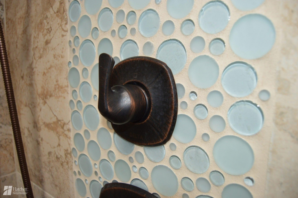 Bathroom Remodel Shower Deco Glass Bubble Tile