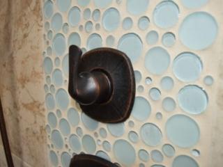 Bathroom Remodel Shower Deco Glass Bubble Tile
