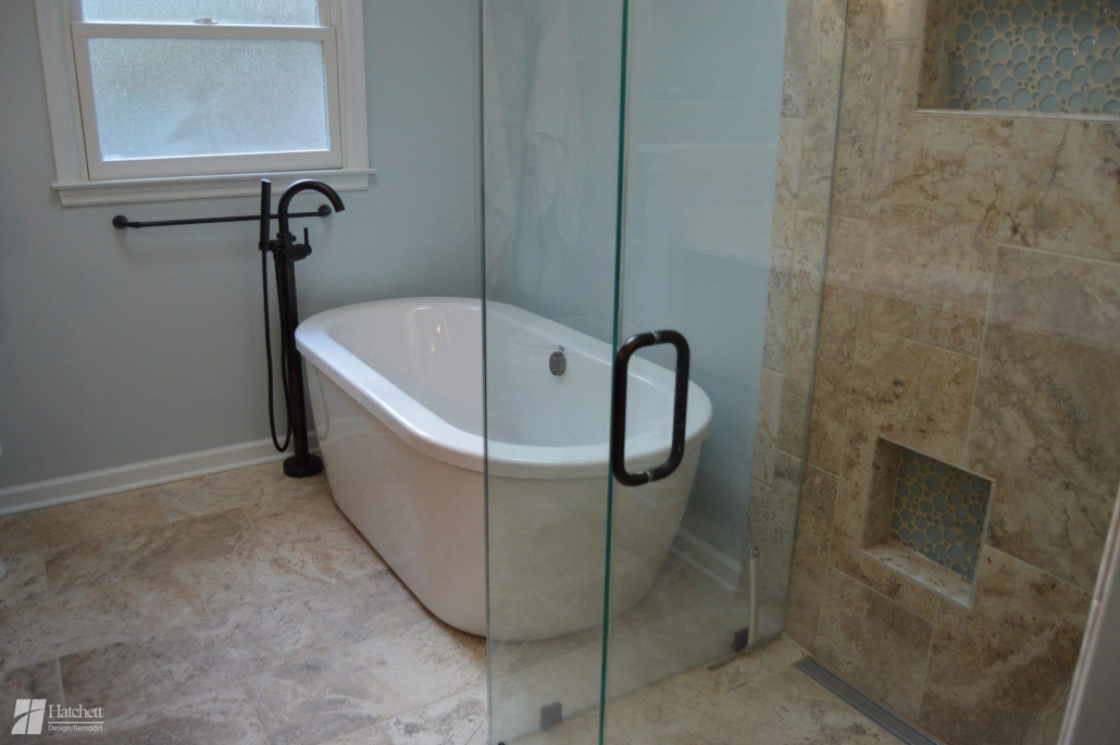 Bathroom Remodel Freestanding Soaking Tub