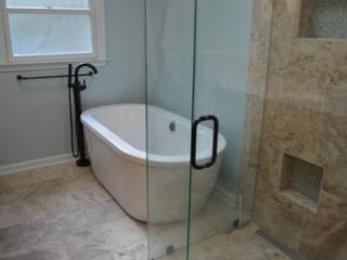 Bathroom Remodel Freestanding Soaking Tub
