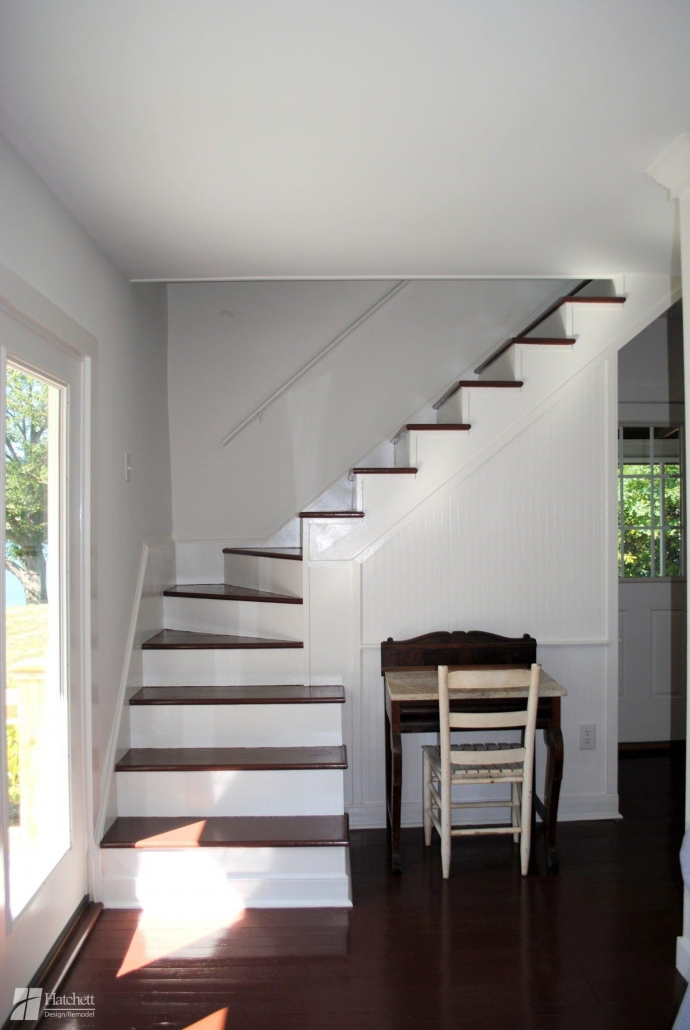 Home Remodel Room Addition Staircase to Finished Attic