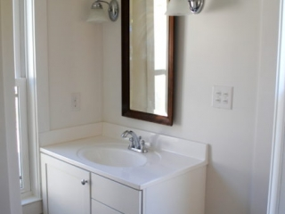 Bathroom Remodel Maple Vanity Cabinets in White