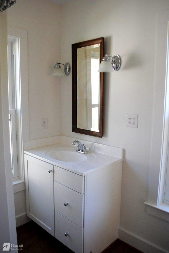 Bathroom Remodel Maple Vanity Cabinets in White