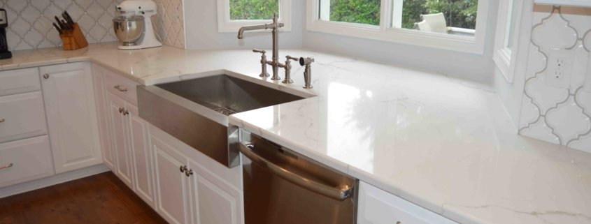 Remodeled Kichen with Farm Sink