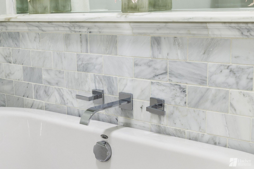 Bathroom Remodel Tub Surround in Marble