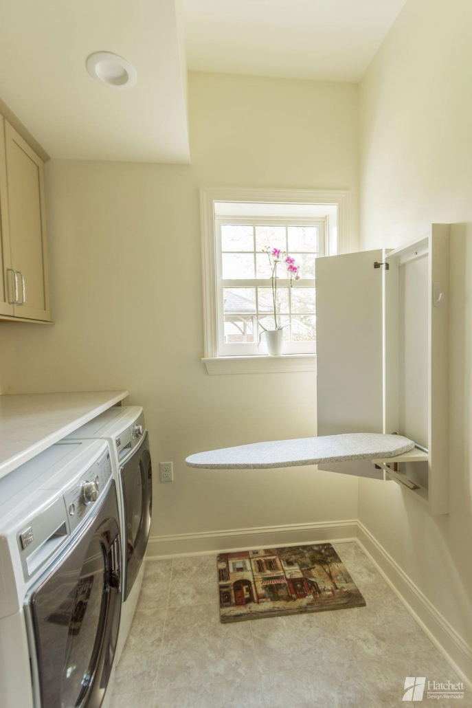 Laundry Room Remodel Ironing Board Cabinet
