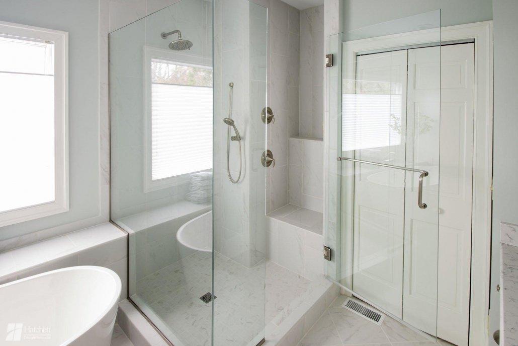 Bathroom Remodel Shower Bench and Shelf