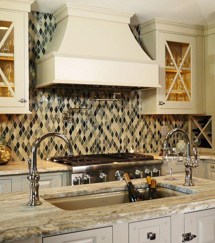 Hatchett Design Kitchen Showroom Island and Tiled Backsplash