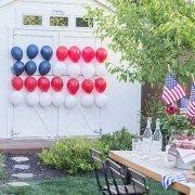 Balloons Shape of American Flag