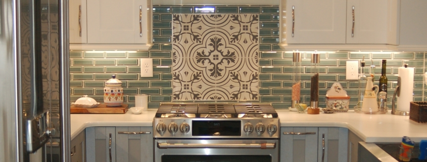 Spangler Kitchen Remodel Two-Toned Cabinets Backsplash Tile Accent Stainless Steel Appliances
