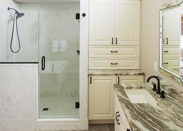 luxury bathroom glass shower