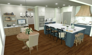 Kitchen Remodel Work Space Home Office
