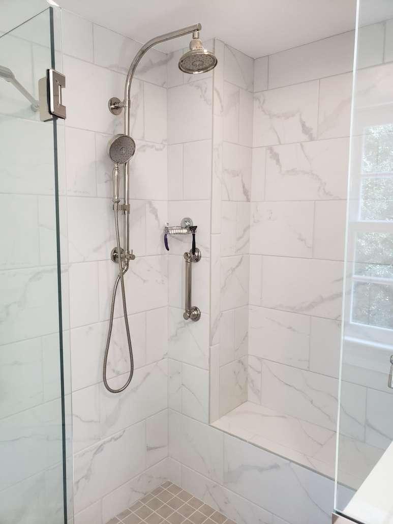 Master Bath Remodel Shower Frameless Glass Enclosure