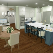 Kitchen and Office Rendering