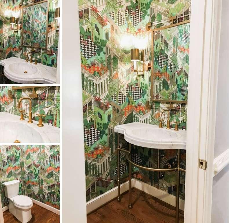 Half Bath Remodel Wallpaper